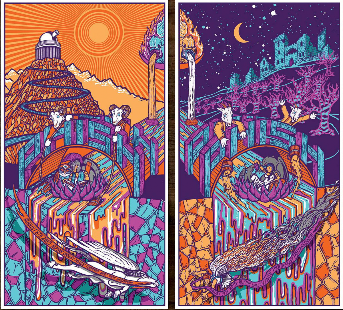 Phish Signed Posters - August 8-9, 2015 - Alpine Valley, WI (2
