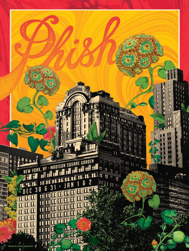 Phish Signed Poster New Years Run 2015 2016 Madison Square Garden Mimi Fishman Foundation