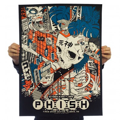 Phish Signed Poster - October 16/17, 2018 - Albany