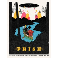 Phish Signed Poster - July 21-22, 2015 - Bend, OR