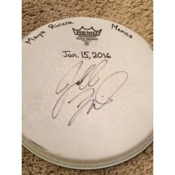 Phish Show Used Drumhead - Signed by Jon Fishman - Jan 15, 2016 - Maya Rivera, Mexico