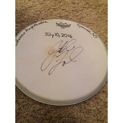 Phish Show Used Drumhead - Signed by Jon Fishman - July 10, 2016 - Syracuse, NY