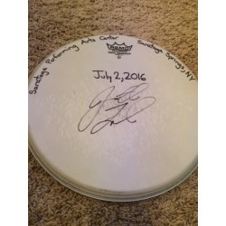 Phish Show Used Drumhead - Signed by Jon Fishman - July 2, 2016 - SPAC