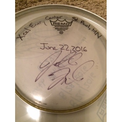 Phish Show Used Drumhead - Signed by Jon Fishman - June 22, 2016 - St. Paul, MN