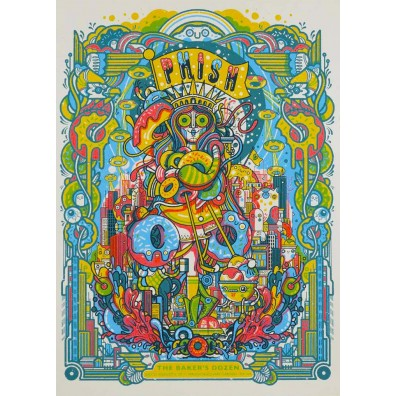 Phish Signed Poster - Bakers Dozen - MSG 2017 - Millward