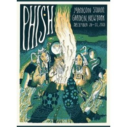 Phish Signed Poster - December 28 - 31, 2018 - New York (Neeley)